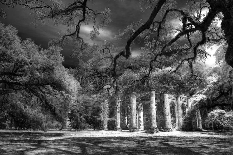 Vieux Sheldon Church Ruins Yemassee, la Caroline du Sud photo libre de droits