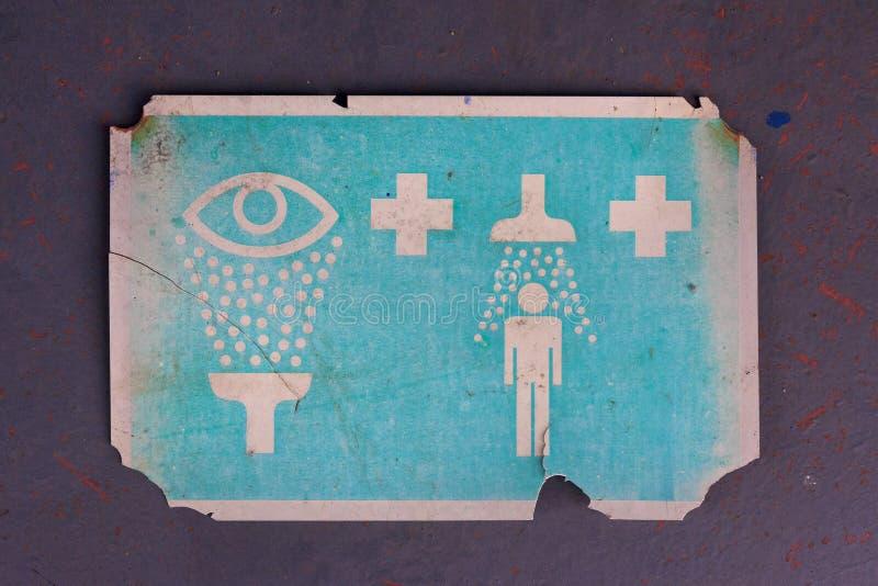 Vieux signe de décontamination photo libre de droits