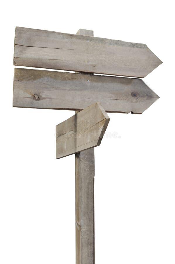 Vieux signe en bois image libre de droits