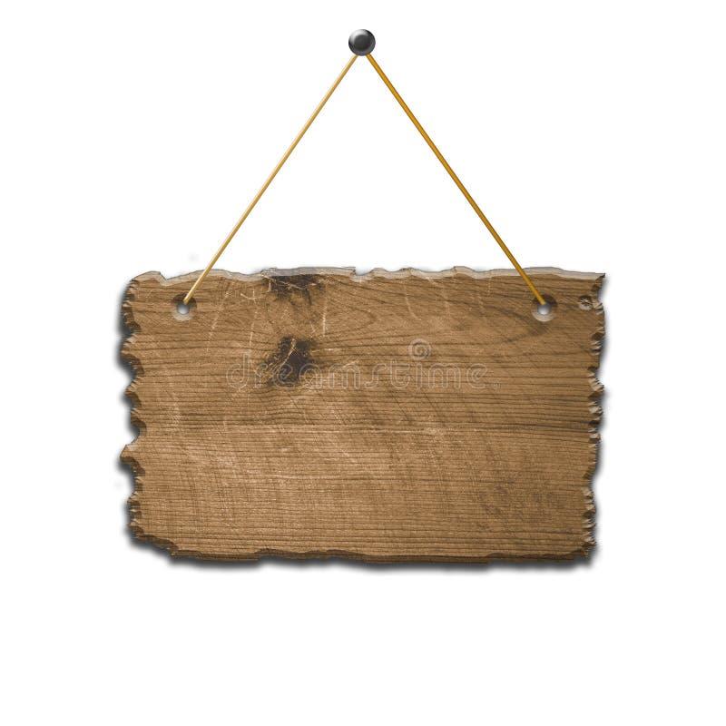 Vieux signe en bois cassé photos libres de droits