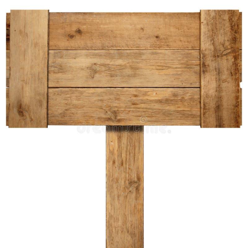 Vieux signe en bois superficiel par les agents images libres de droits