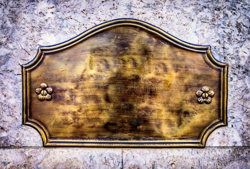 Vieux signe vide en métal photographie stock