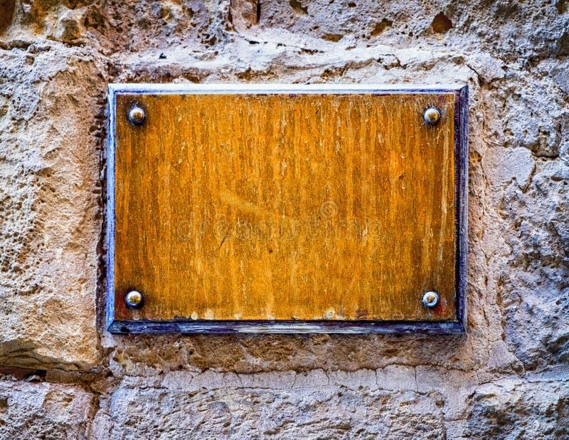 Vieux signe vide en métal image libre de droits