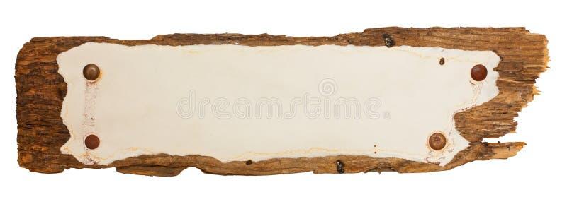 Vieux signe Weather-beaten image libre de droits