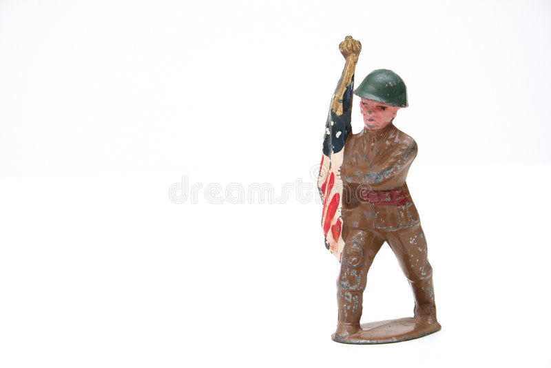 Vieux soldat de jouet photographie stock