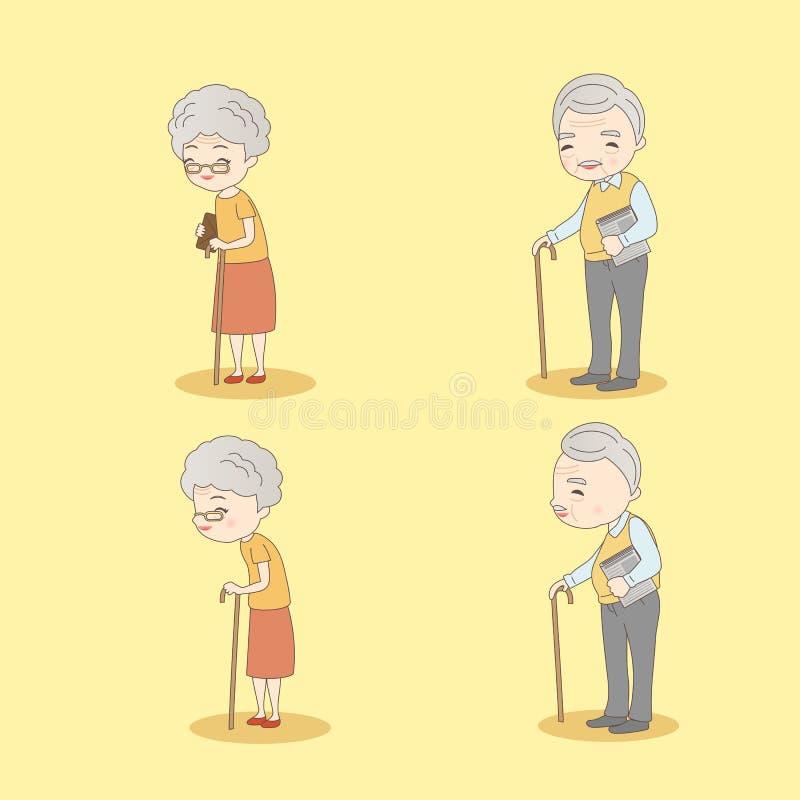Vieux sourire de couples à vous illustration de vecteur