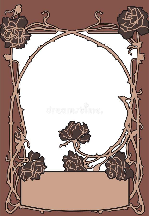 Vieux style de mode de vue avec des roses photo stock