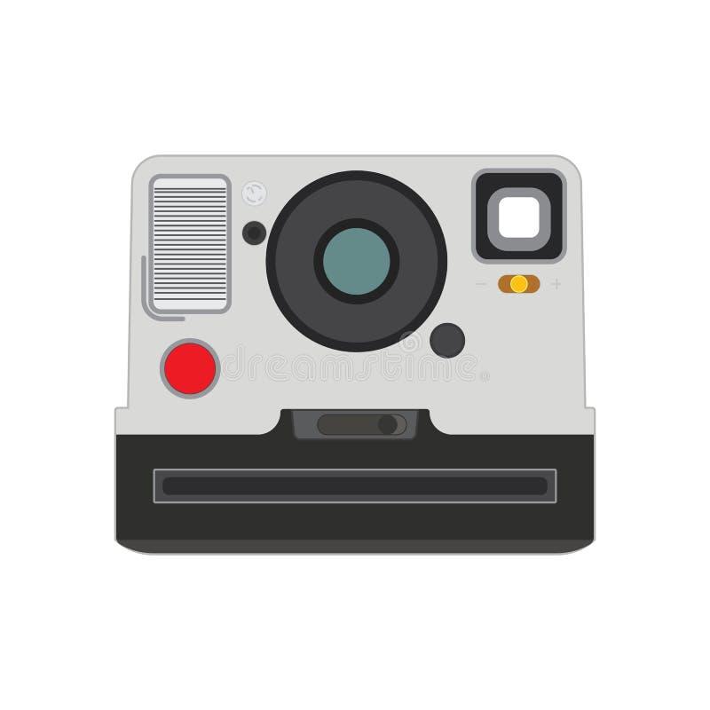 Vieux style plat classique du vecteur eps10 de caméra de photo Vieil appareil-photo de photo sur le fond blanc illustration de vecteur