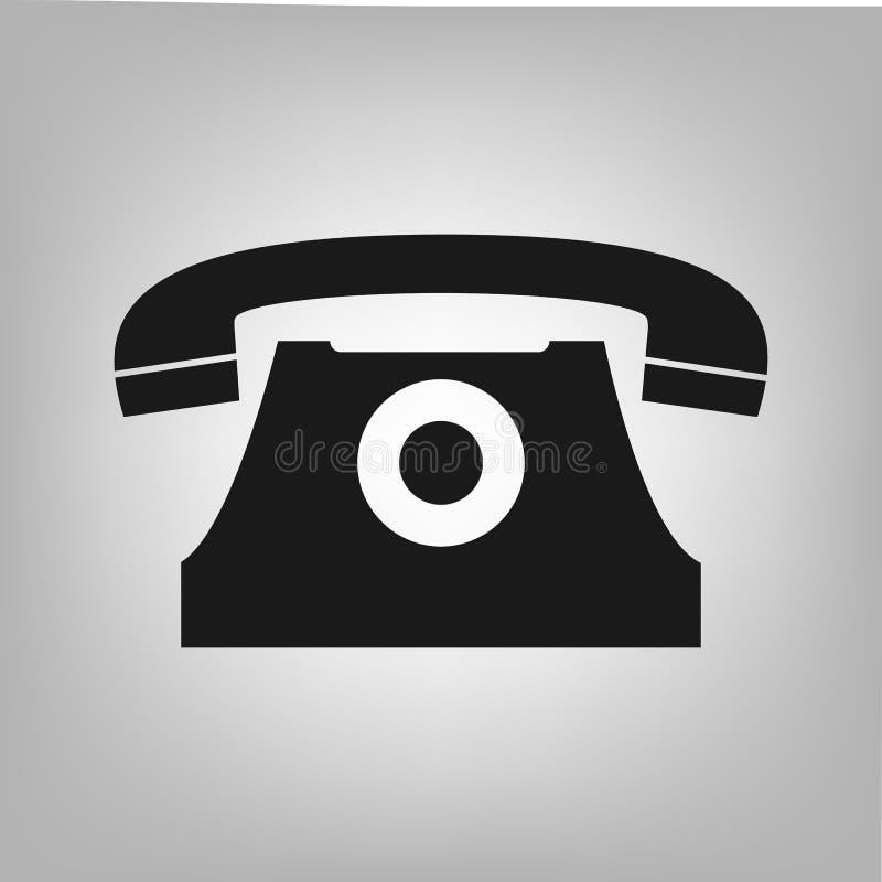 Vieux symbole classique de vecteur d'icône de téléphone pour la conception graphique, logo, site Web, milieu social, appli mobile illustration libre de droits