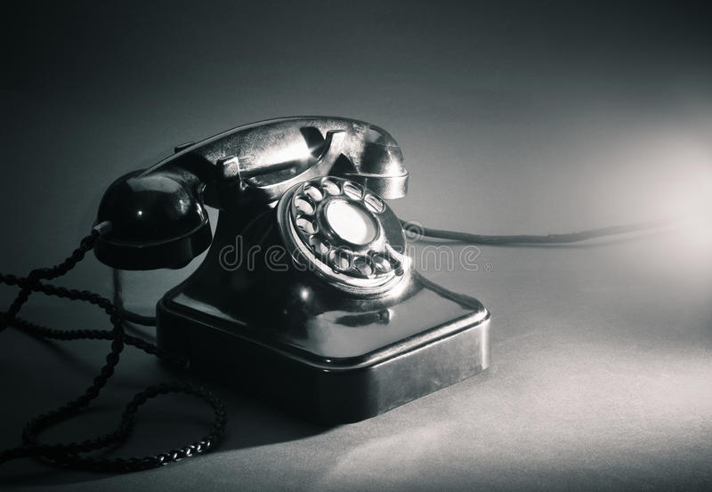 Vieux téléphone image stock