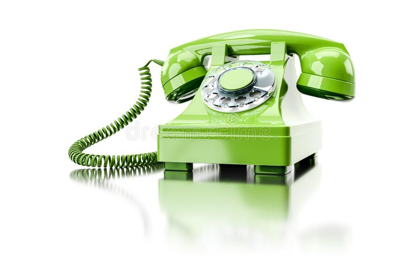 vieux téléphone commuté vert illustration libre de droits