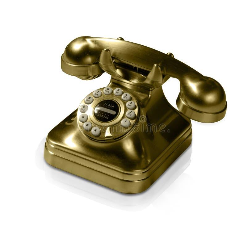 Vieux Téléphone D Or Photo libre de droits