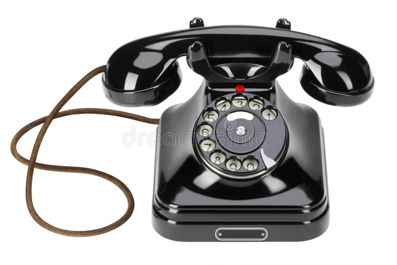Vieux téléphone de câble photographie stock libre de droits
