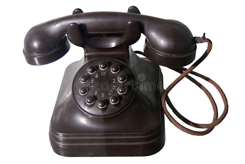 Vieux téléphone de cadran image libre de droits