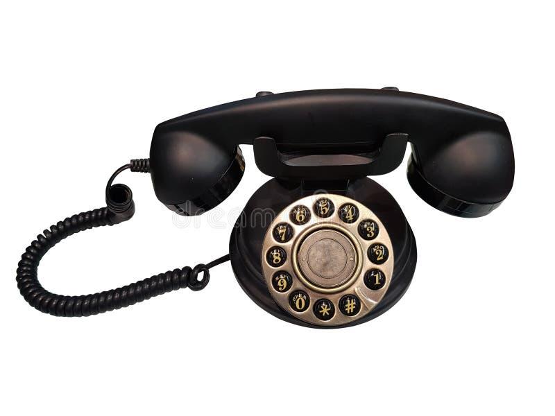 Vieux téléphone de cru image stock