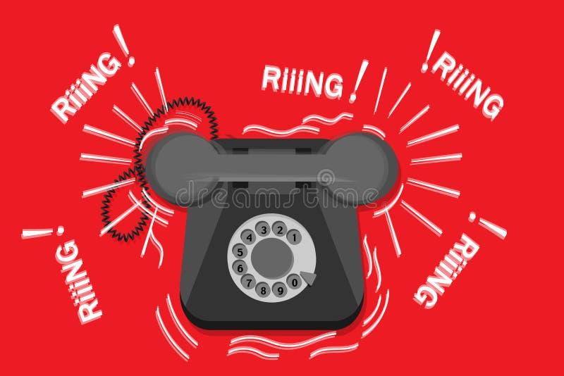Vieux téléphone de sonnerie illustration stock