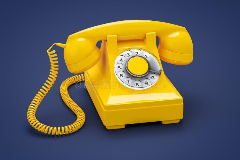 Vieux téléphone orange illustration stock