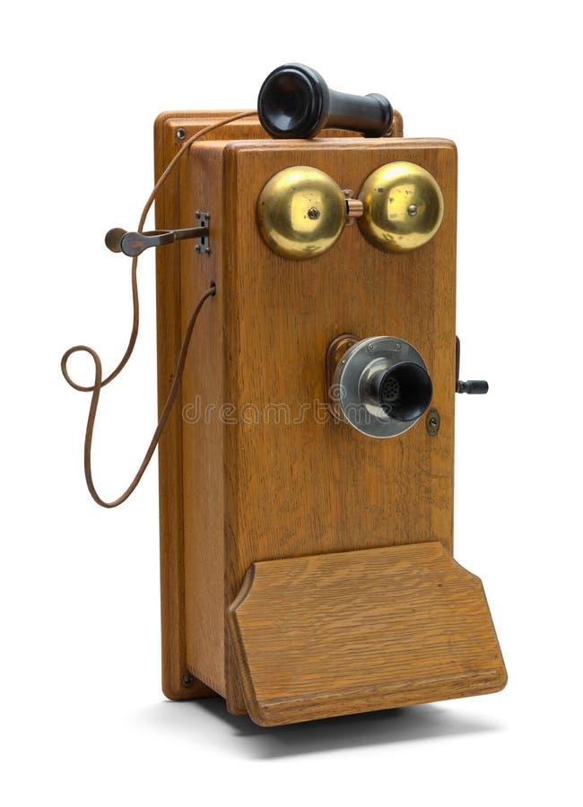 Vieux téléphone outre de crochet photo libre de droits