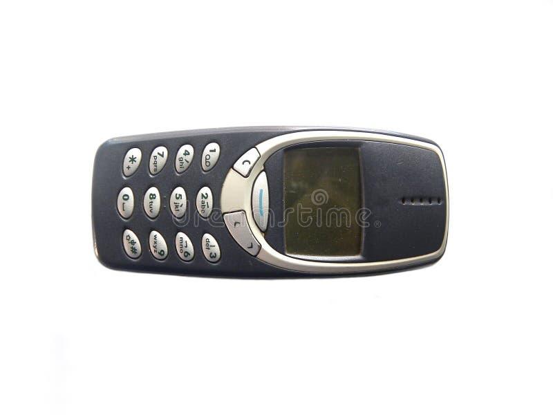 Vieux téléphone portable avec le clavier numérique photo libre de droits