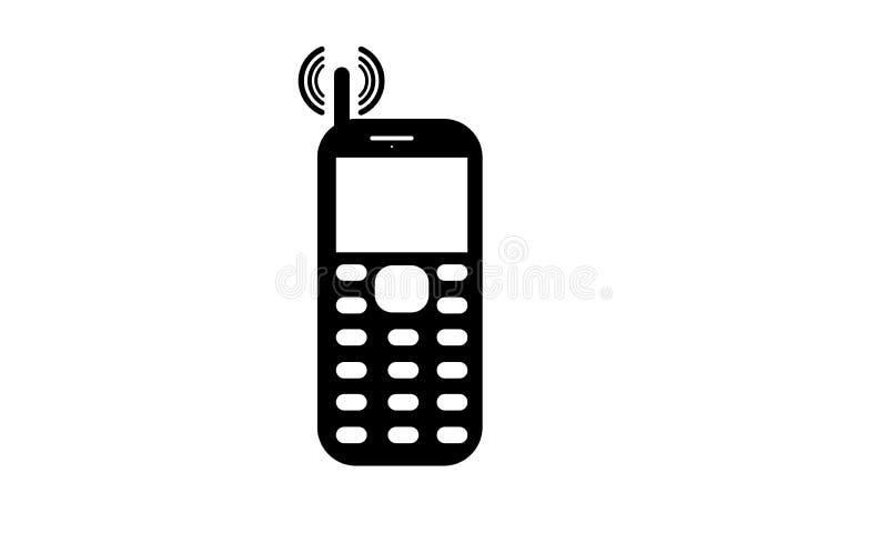 Vieux téléphone portable - icône de téléphone portable - vieux téléphone portable de clavier numérique illustration stock