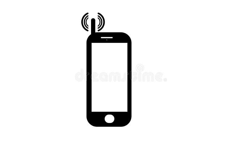 Vieux téléphone portable - icône de téléphone portable - vieux téléphone portable de clavier numérique illustration de vecteur