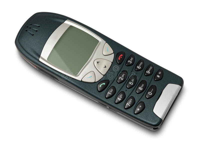Vieux téléphone portable simple image stock