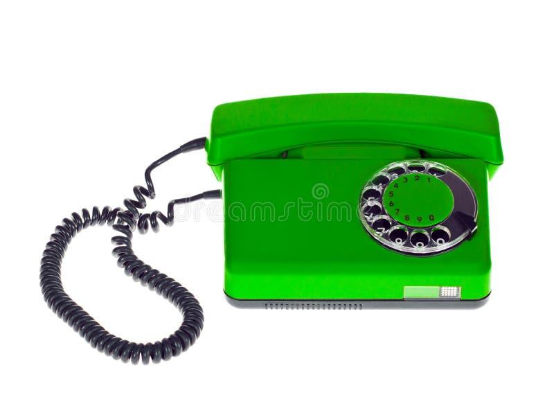 Vieux téléphone vert photos stock