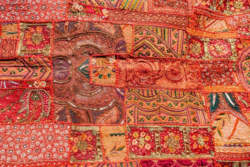 Vieux Tapis Indien De Patchwork Le Rajasthan Inde Photo Stock