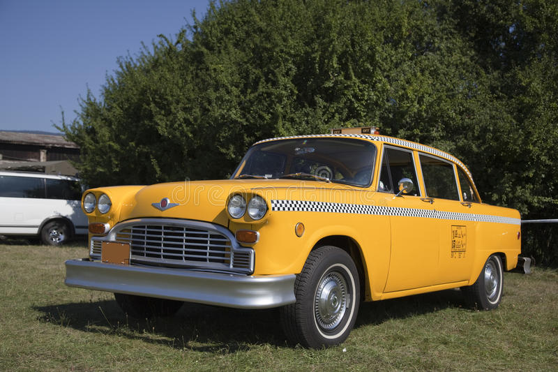 Vieux taxi de New York photographie stock