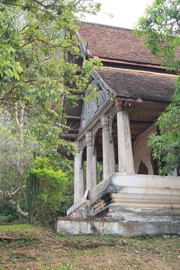 Vieux temple bouddhiste dans Luang Prabang photo libre de droits