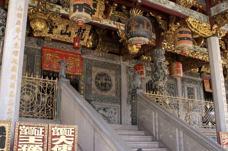 Vieux temple chinois images libres de droits