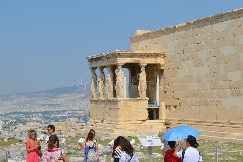 Vieux temple d'Athéna, Acropole à Athènes, Grèce le 16 juin 2017 photographie stock