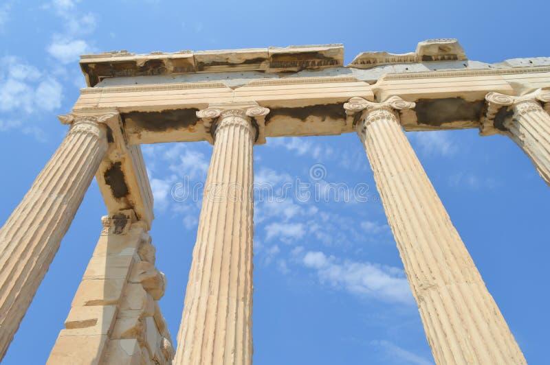 Vieux temple d'Athéna, Acropole à Athènes, Grèce le 16 juin 2017 photo stock