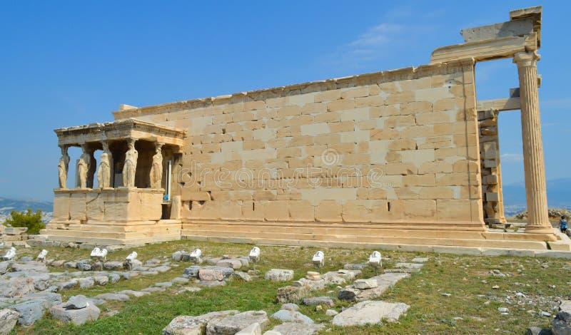 Vieux temple d'Athéna, Acropole à Athènes, Grèce le 16 juin 2017 photos libres de droits