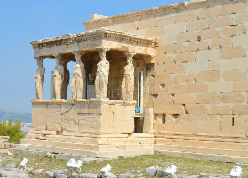 Vieux temple d'Athéna, Acropole à Athènes, Grèce le 16 juin 2017 images libres de droits