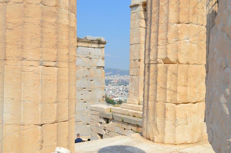 Vieux temple d'Athéna, Acropole à Athènes, Grèce le 16 juin 2017 image libre de droits
