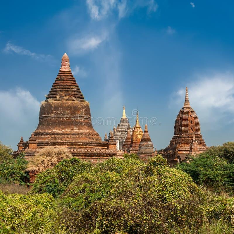 Vieux temples bouddhistes chez Bagan Kingdom, Myanmar (Birmanie) photographie stock