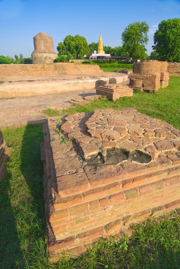 vieux Tibétain de temple de ruines photo libre de droits