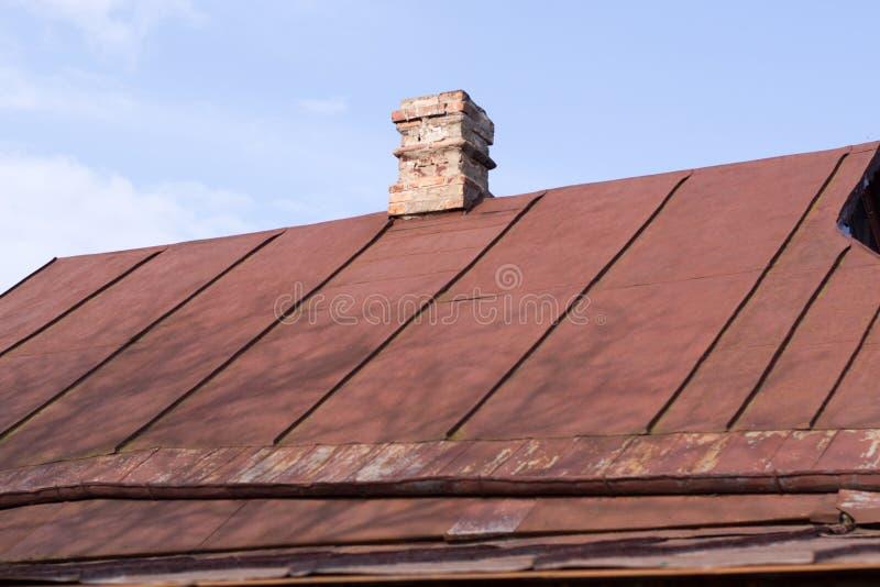 Vieux toit de fer photographie stock