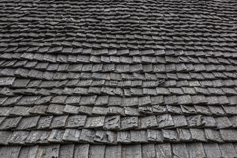 Vieux toit en bois photo libre de droits