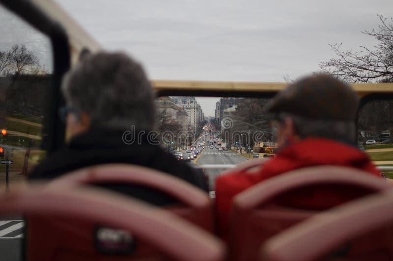 Vieux touristes de couples dans le C.C images libres de droits