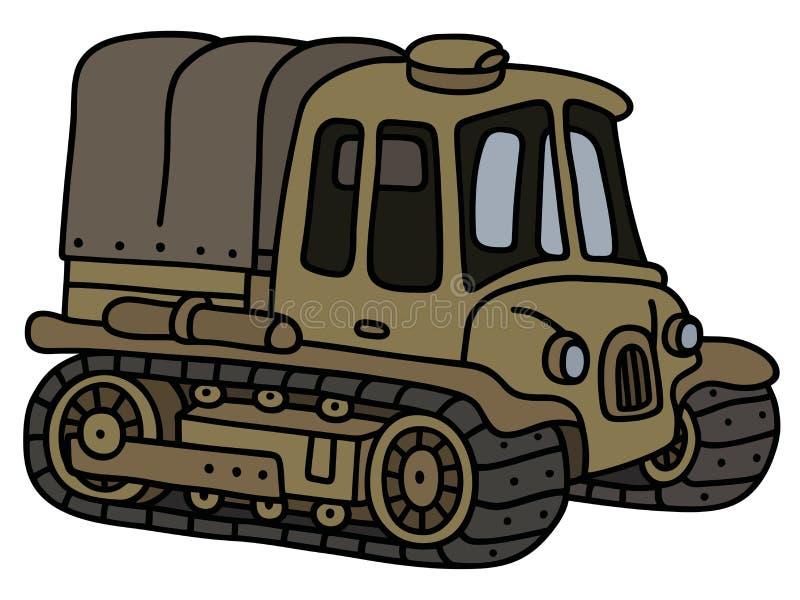 Vieux tracteur drôle d'artillerie illustration de vecteur