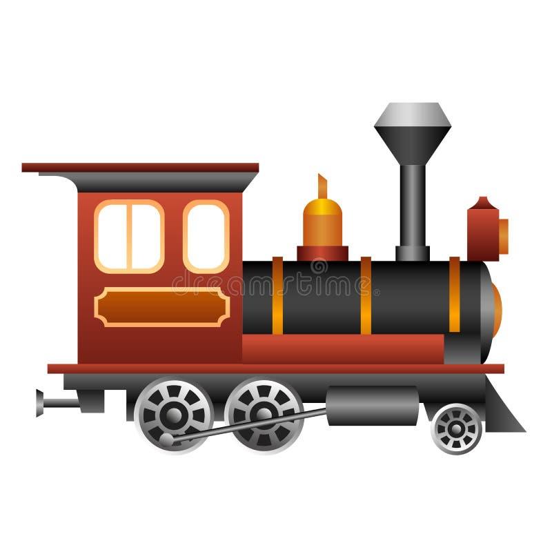 Vieux train illustration libre de droits