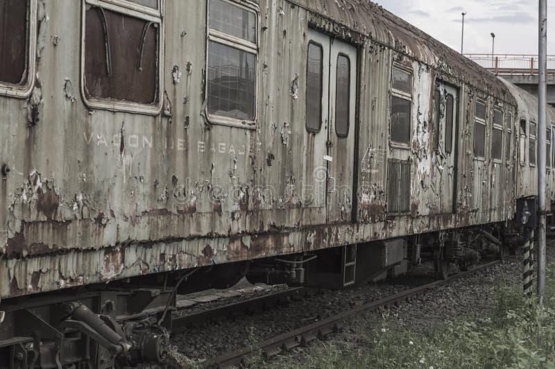 Vieux train abandonné photos libres de droits
