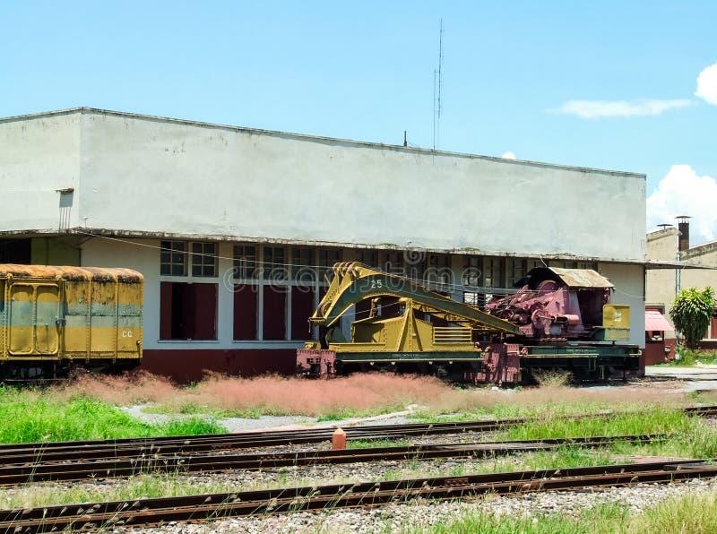 Vieux train de grue image stock