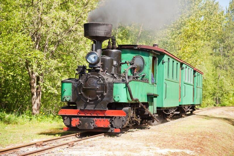 Vieux train de machine à vapeur image stock