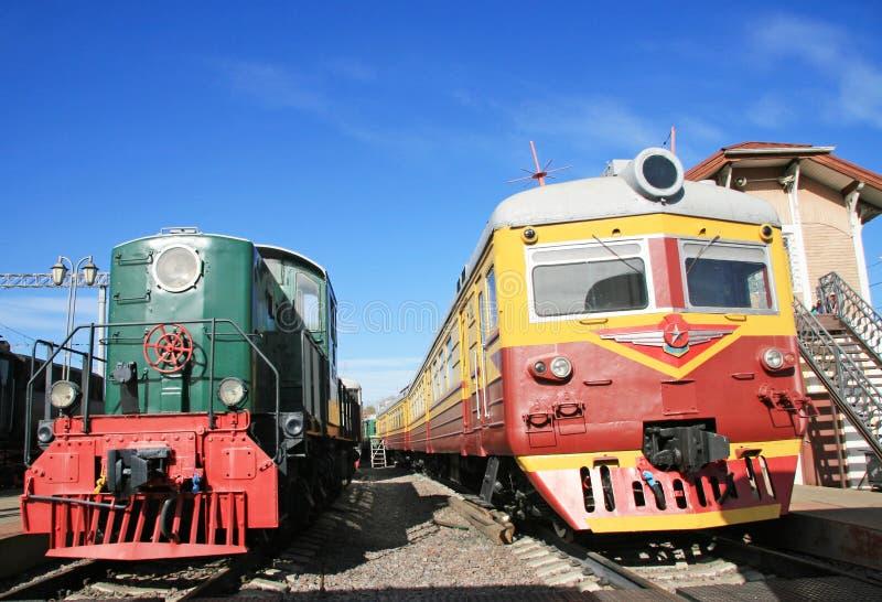 Vieux train deux photos stock