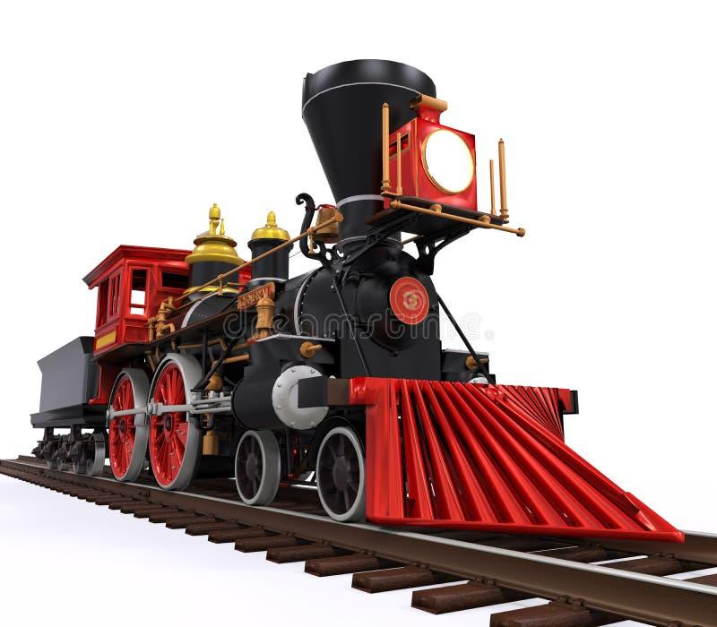 Vieux train locomotif images stock