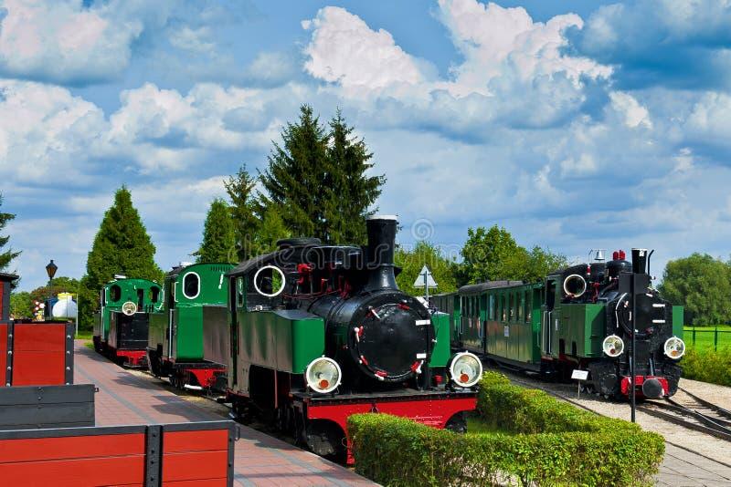 Vieux trains image libre de droits