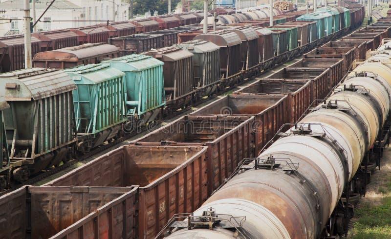 Vieux trains de fret images stock